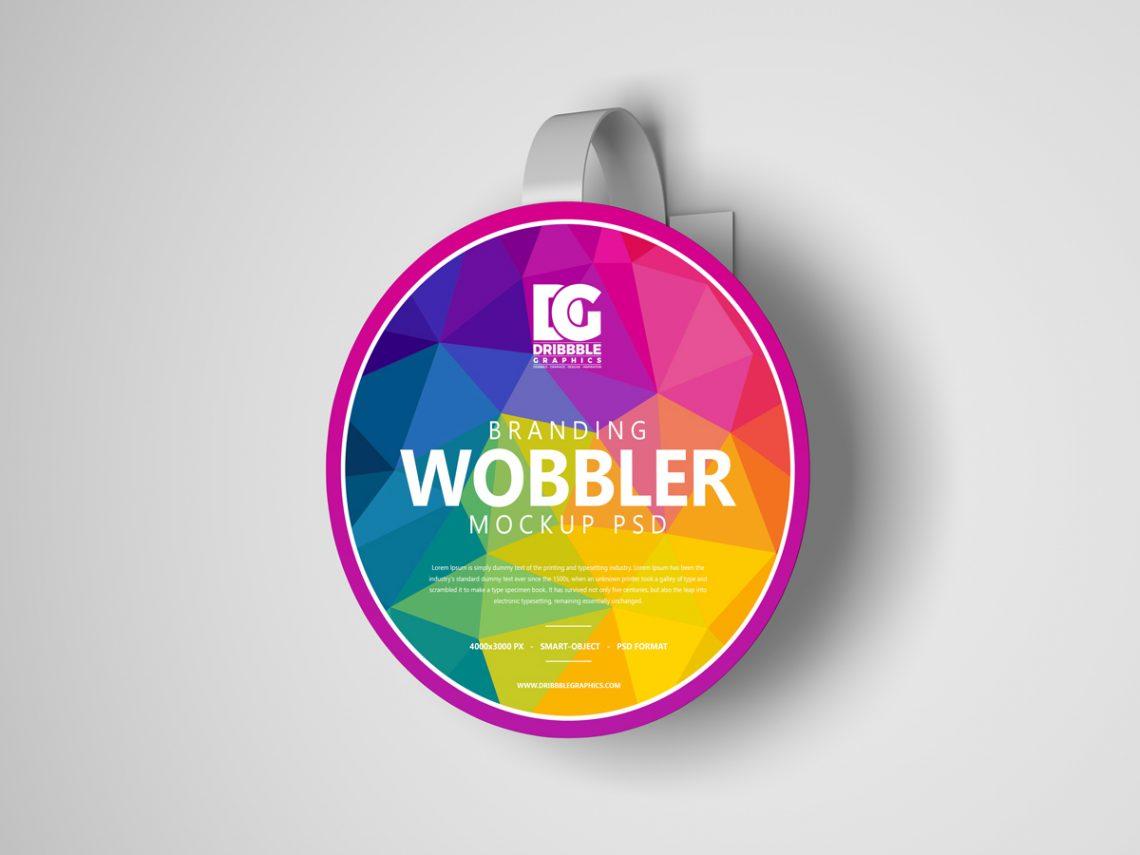 Free Branding Wobbler Mockup PSD 2019