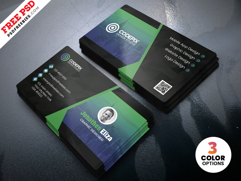Free Professional Business Card Design Template