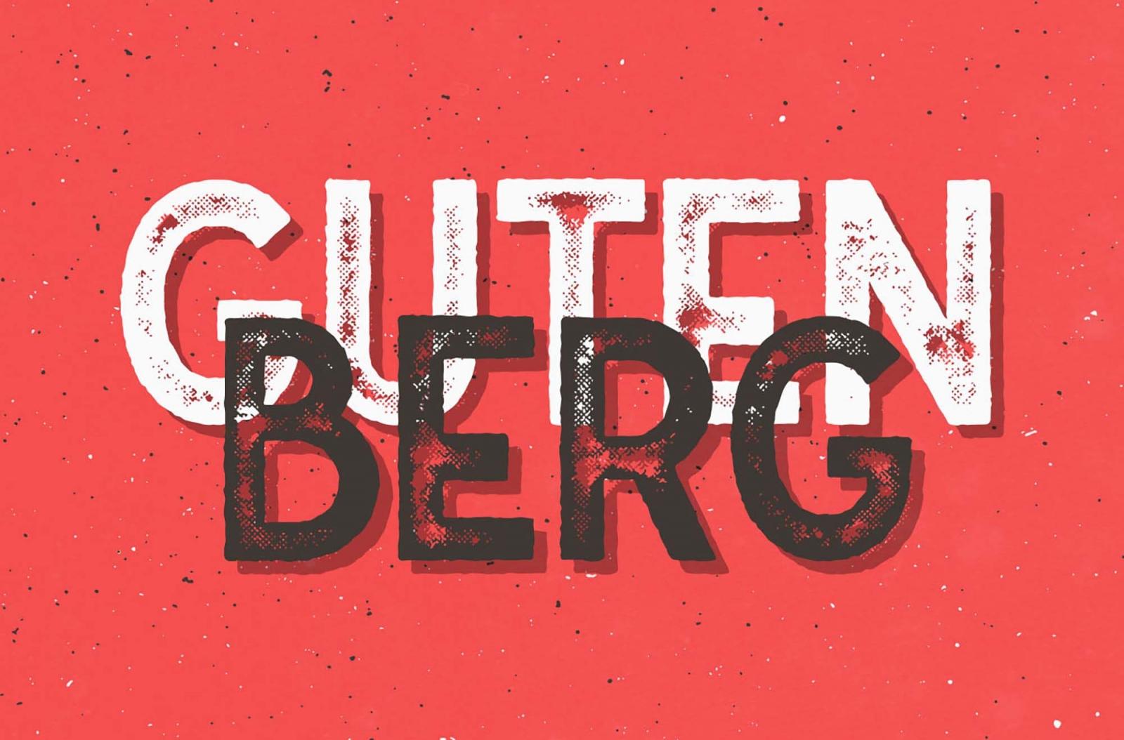 Free Gutenberg Font Family