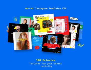 Free Mono Instagram Templates Kit