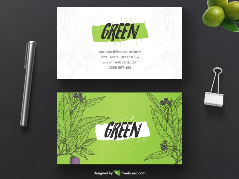 Free Creative Green Business Card