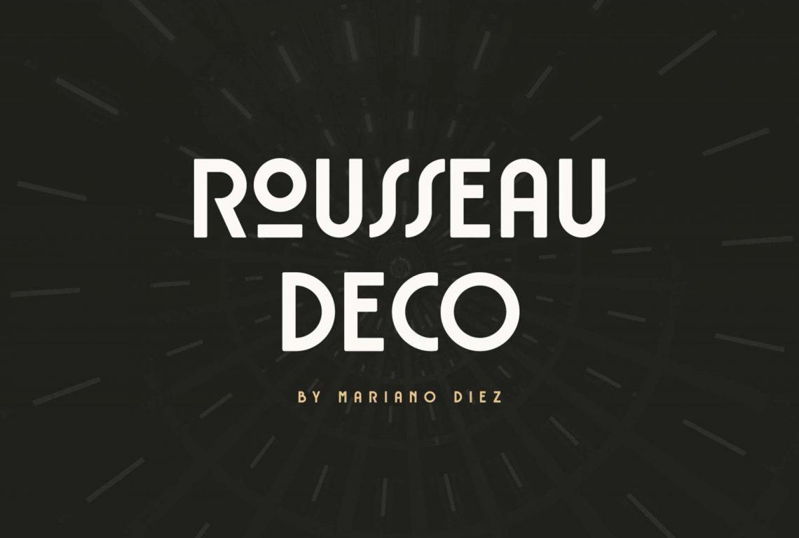 Free Rousseau Deco Font.