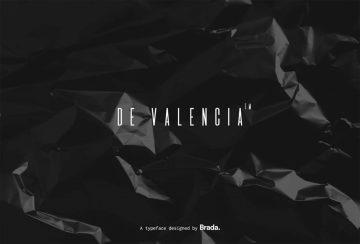 Free De Valencia Typeface Font
