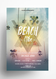 Beach Vibe Freebie PSD Flyer Template