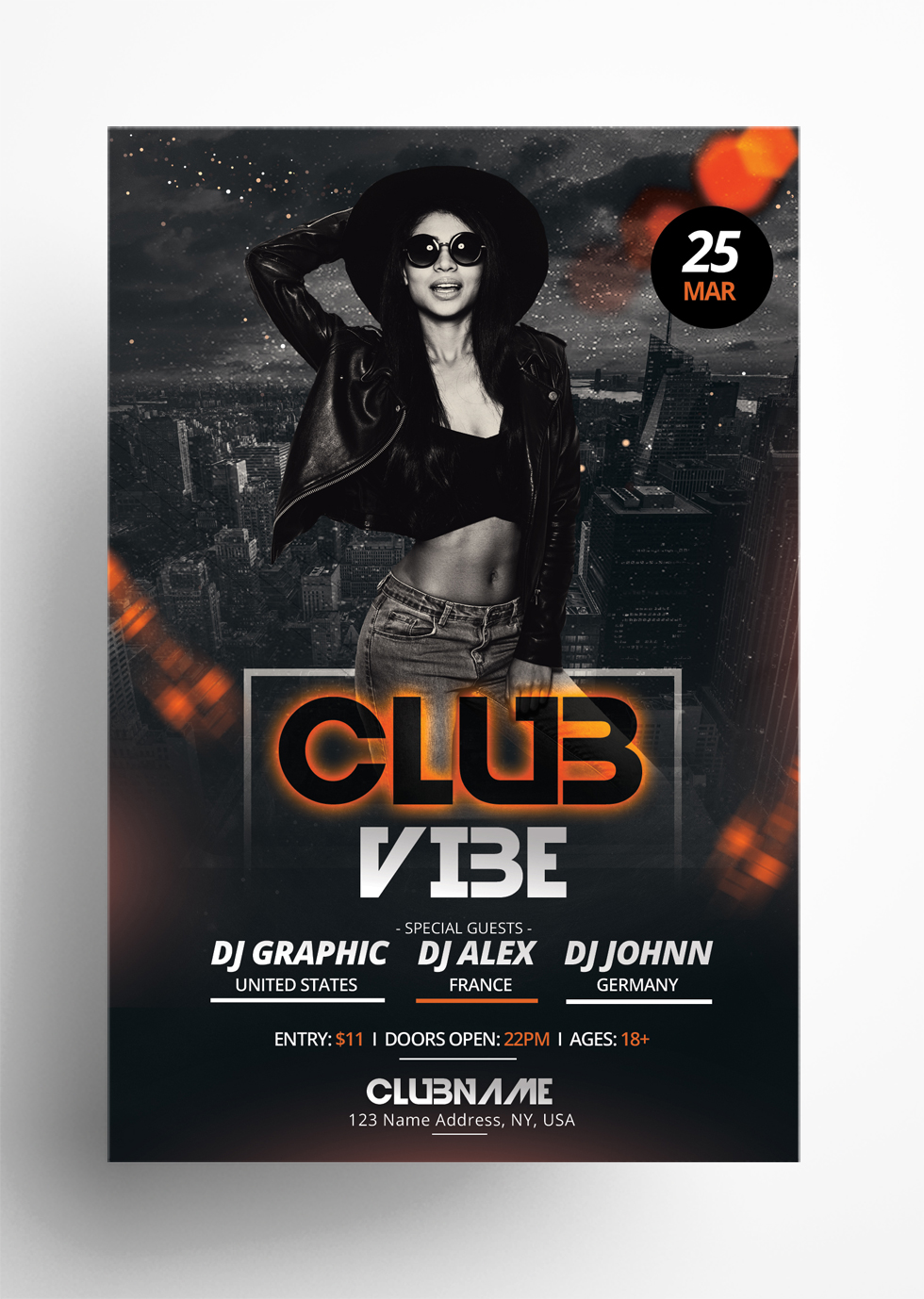 Club Vibe - Free PSD Flyer Template
