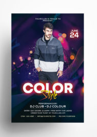Color Style - Free Club PSD Flyer Template