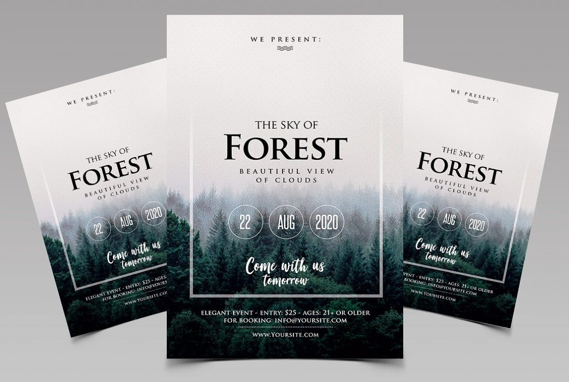 Forest - Event Premium PSD Flyer