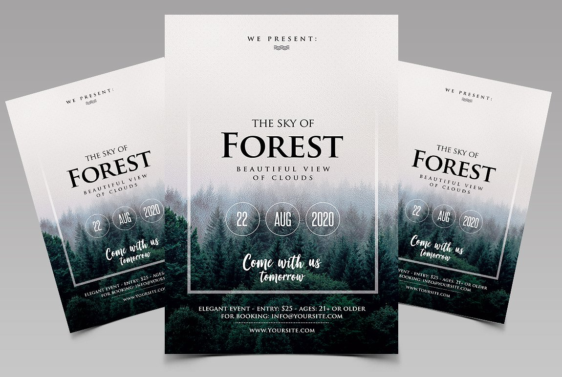Forest - Event Premium PSD Flyer