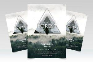 Forest - Geometric Premium PSD Flyer Template