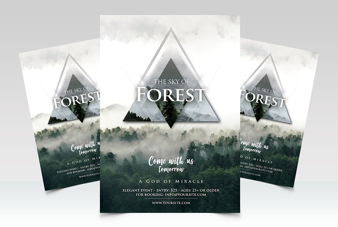 Forest - Geometric Premium PSD Flyer Template