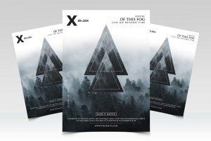 Geometric Event - Premium PSD Flyer