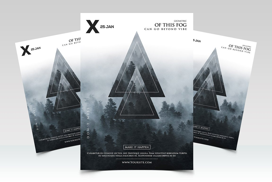 Geometric Event - Premium PSD Flyer