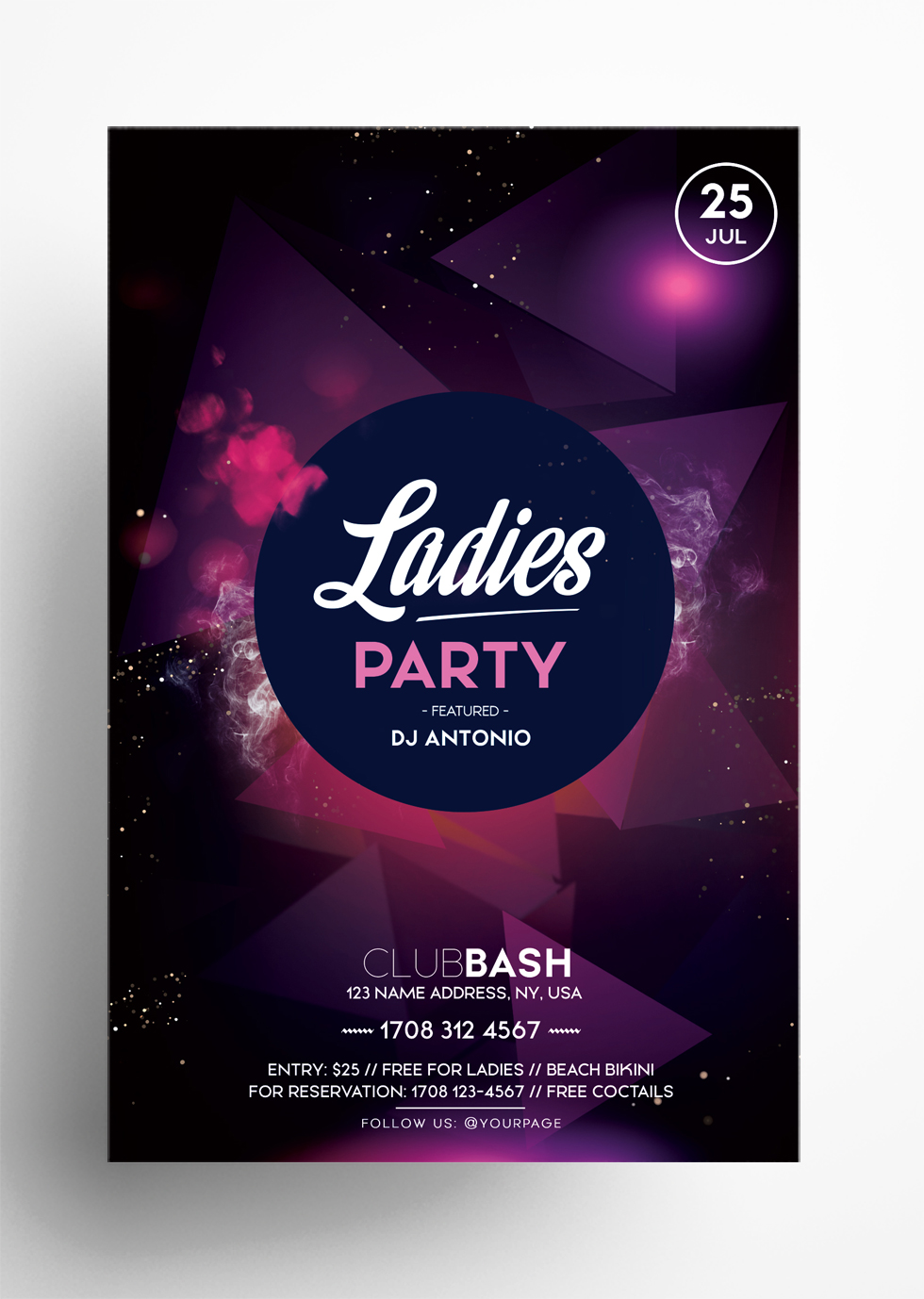 Ladies Party PSD Free Flyer Template