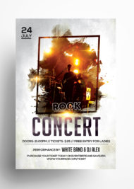 Rock Concert PSD Free Flyer Template