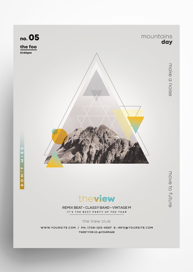 The View - Geometric PSD Flyer Template