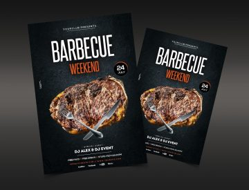 Barbecue Weekend - Free BBQ PSD Flyer Template