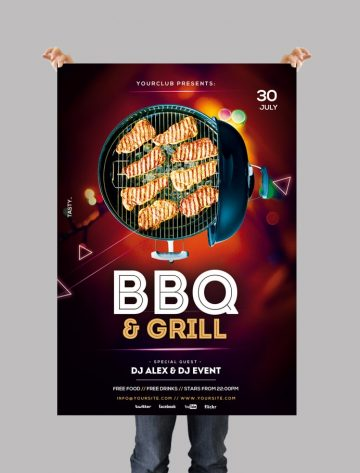 BBQ & Grill - Free PSD Flyer Template