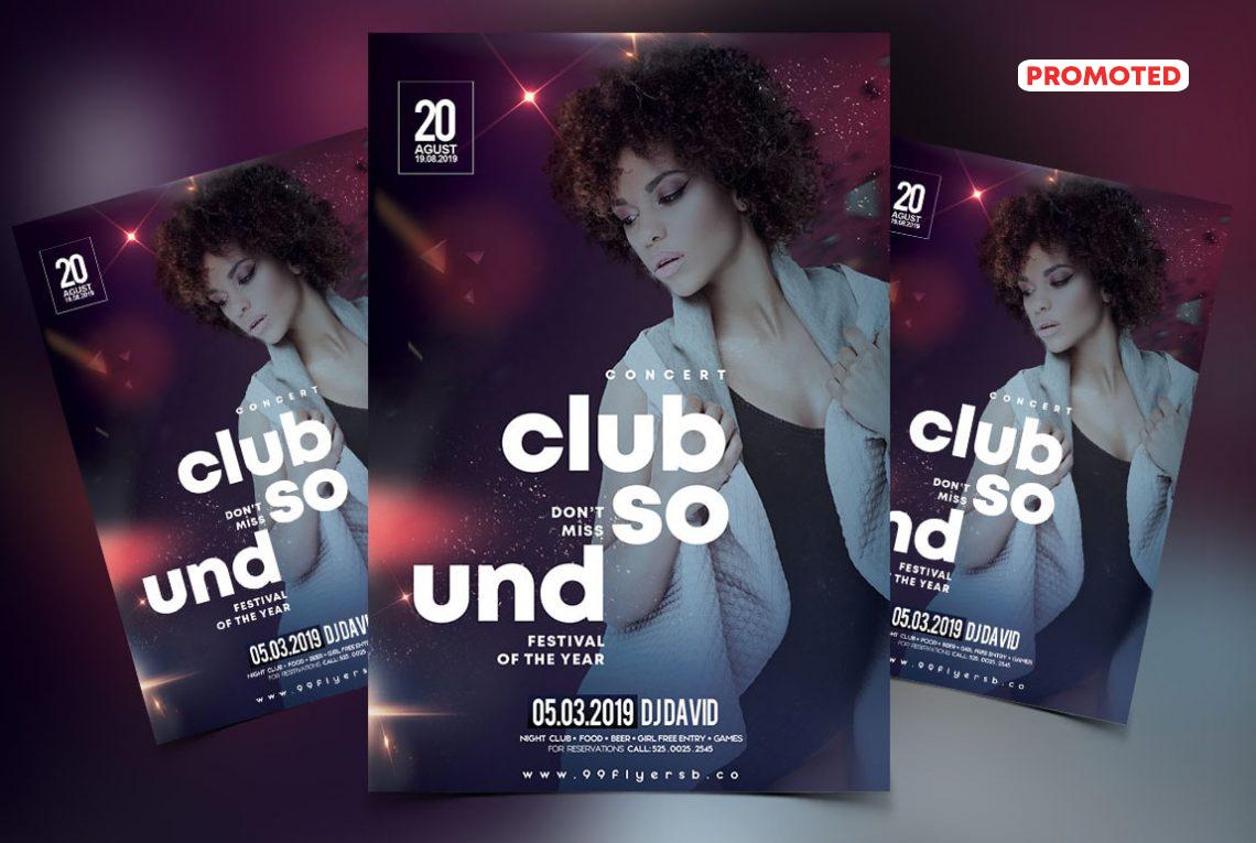 Club DJ Party PSD Free Flyer Template
