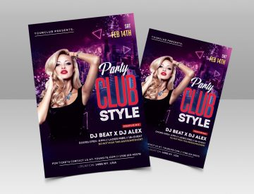 Club Style Free PSD Flyer Template