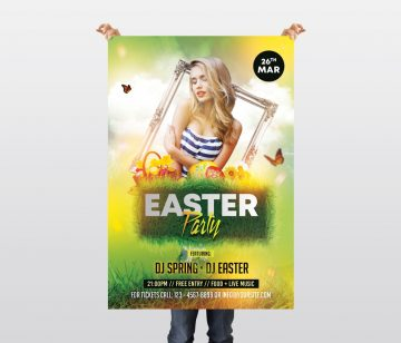 Spring Easter Event PSD Free Flyer Template
