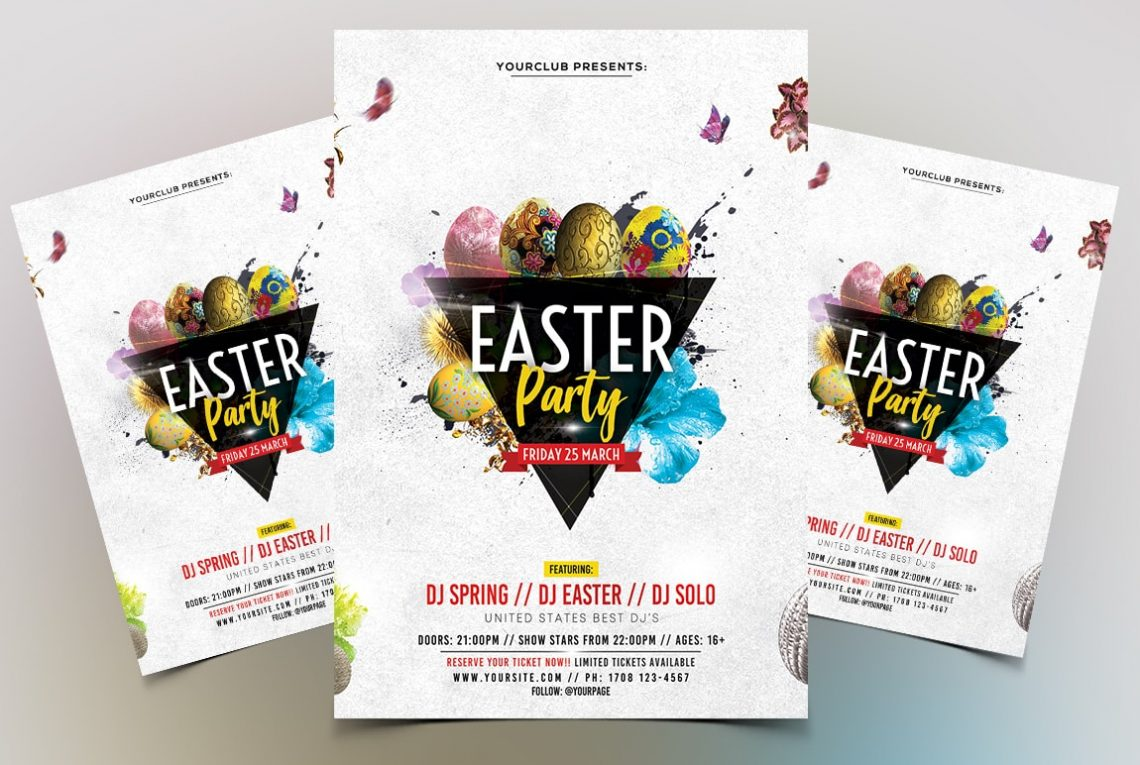 Easter Party PSD Free Flyer Template