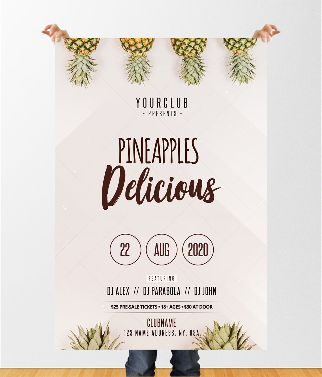 Pineapples - Free Minimal PSD Flyer Template