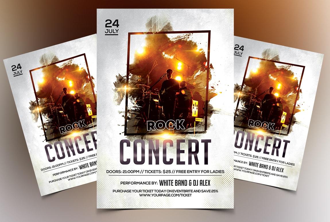 Rock Concert PSD Free Flyer Template