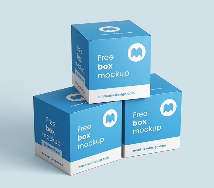 Free Box Mockup.
