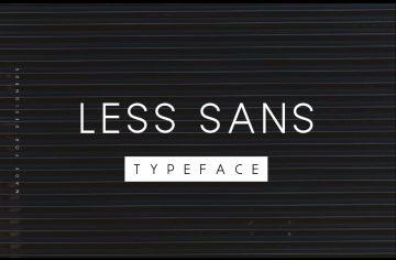 Free Less Sans Minimal Typeface Font