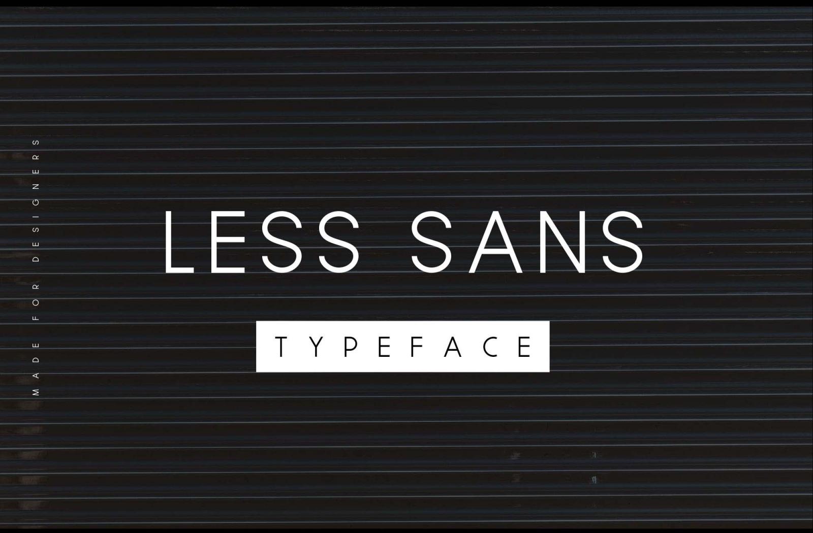 Free Less Sans Minimal Typeface Font.