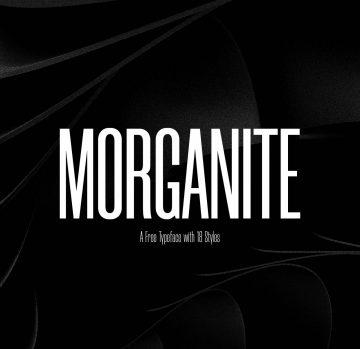 Free Morganite Font Family