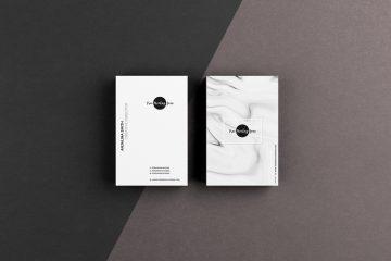 Free Premium Textured Business Card Mockup