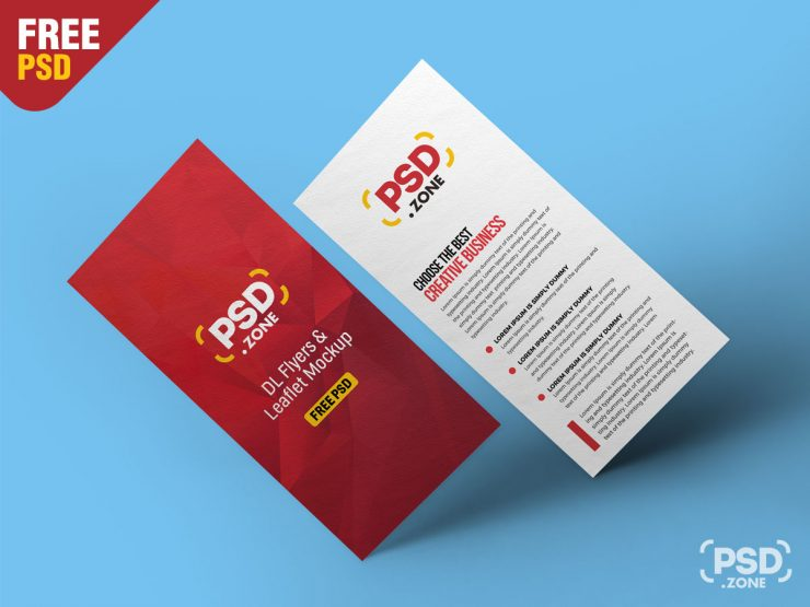 Free Floating DL Flyer Mockup PSD.