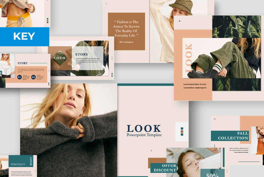 LOOK – Free Elegant Powerpoint Template