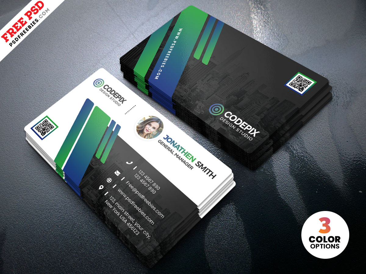Free Corporate Business Card Design Templates PSD