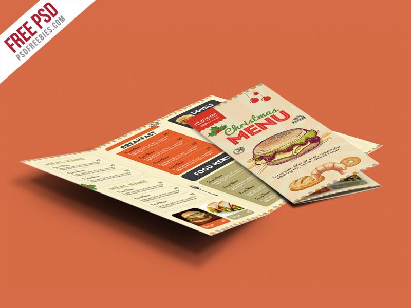 Retro Restaurant Food Menu Brochure – Free PSD