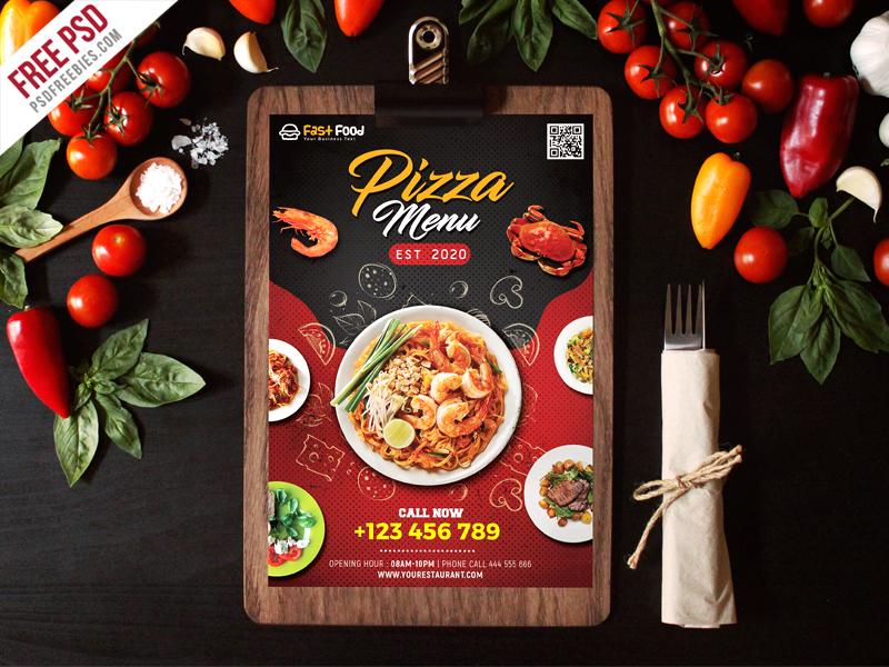 Free Restaurant Food Menu PSD