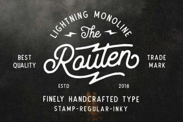 Routen Lightning - Free Font