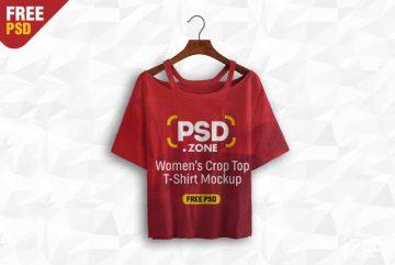Free Women's Crop Top Mockup PSD