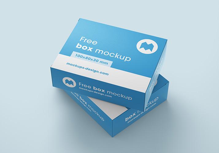Free Customizable Box Mockup.