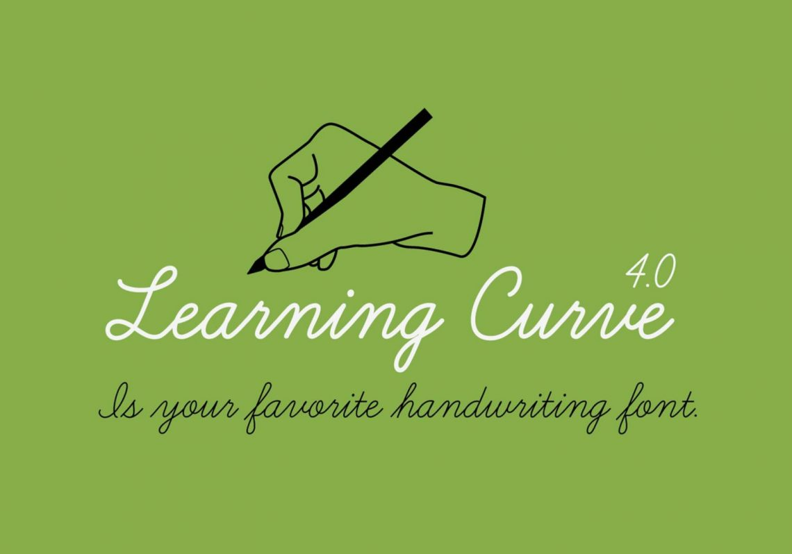 Free Learning Curve Font.