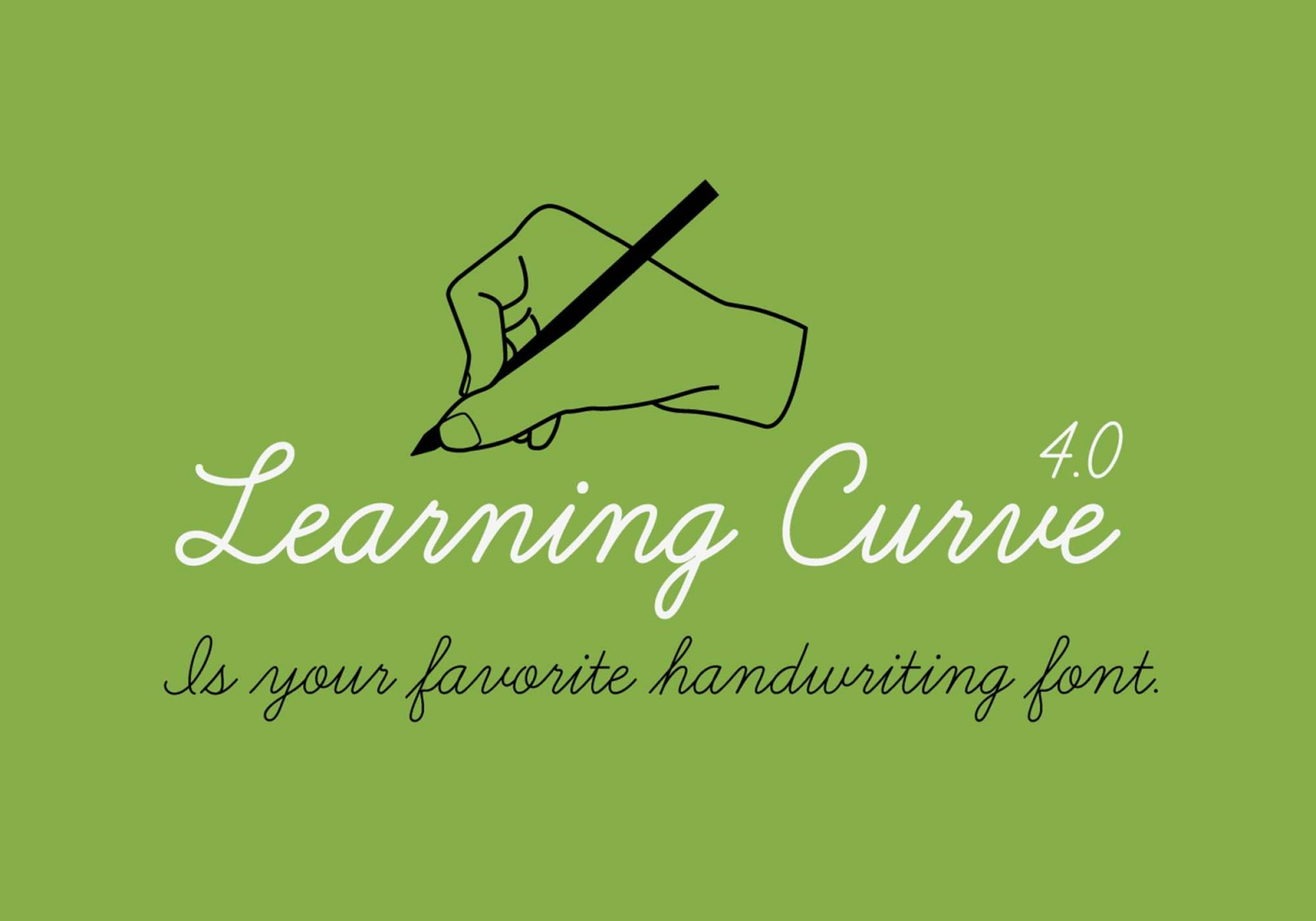 Free Learning Curve Font