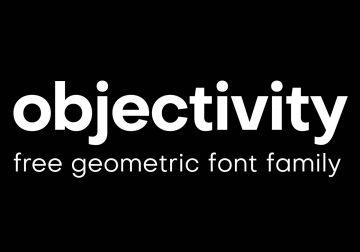 Free Objectivity Geometric Sans Serif Font Family