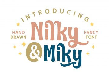 Nilky & Miky Hand-drawn Free Typeface Font