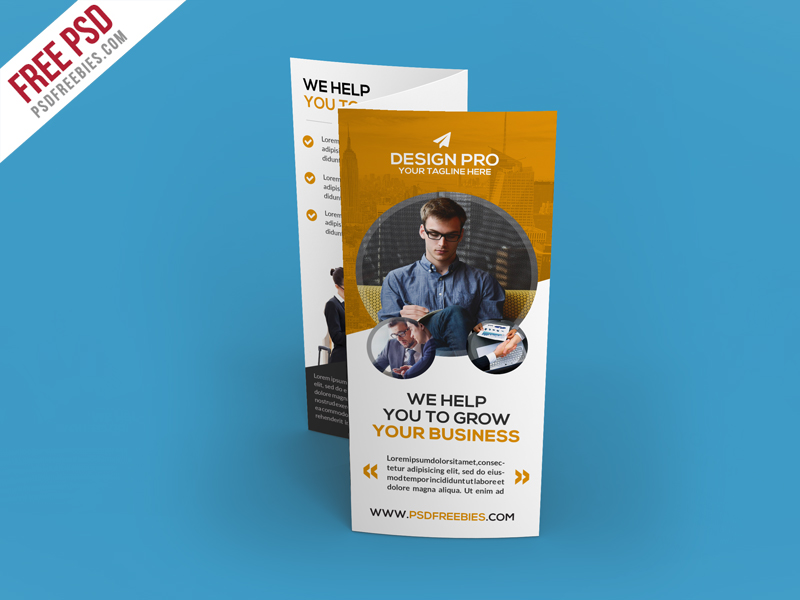 Corporate Trifold Brochure Template – Free PSD