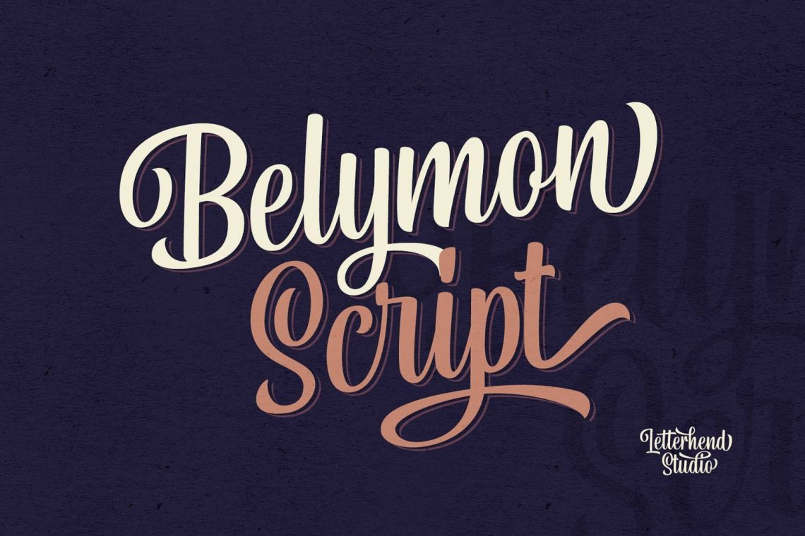Free Belymon Script Font.