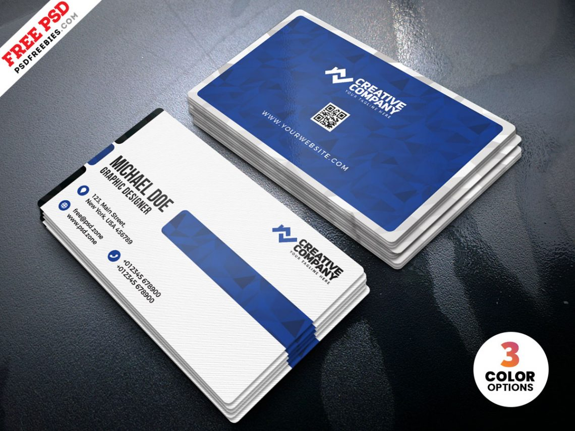 Free Clean Simple Business Card Design PSD