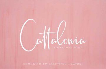 Free Cattalonia Signature Font