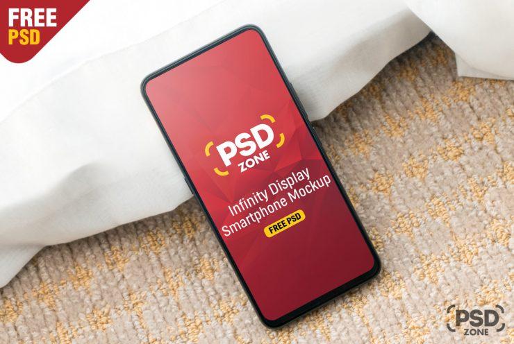 Free Infinity Display Smartphone Mockup.