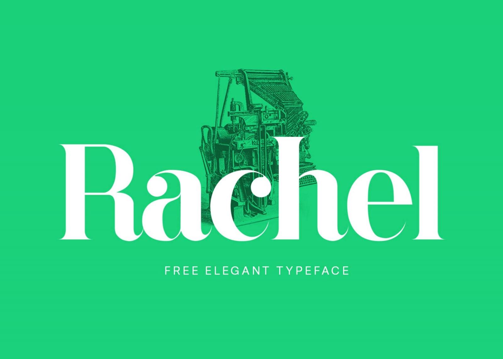 Free Rachel Serif Typeface Font.